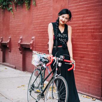 Prefered Mode NYC Bikes girl