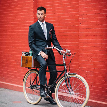 Prefered Mode NYC Bikes businessman